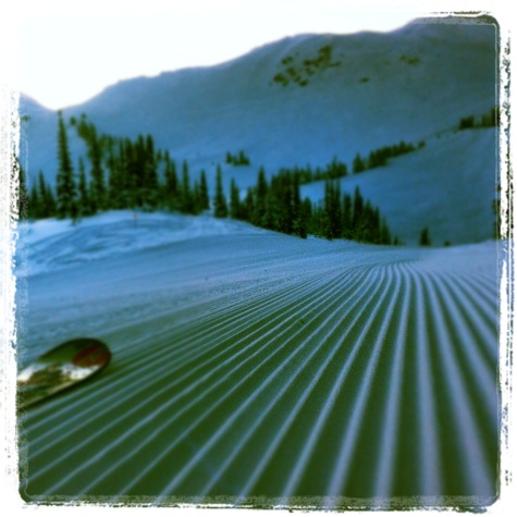 Whistler Blackcomb corduroy morning
