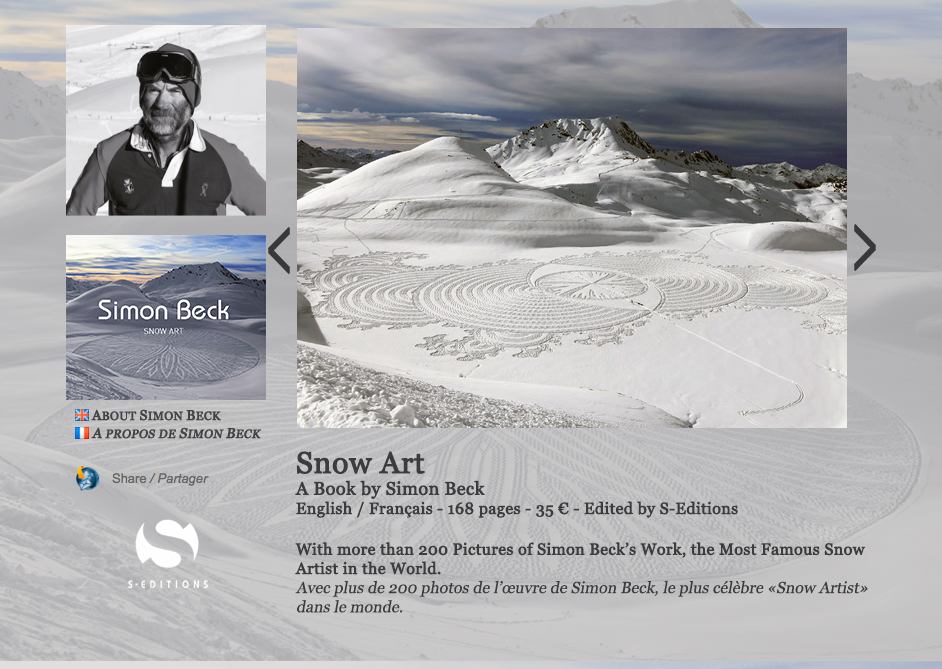 Simon Beck Snow Art book