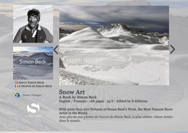 Simon Beck Snow Art book