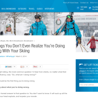 6 Things You're Probably Doing Wrong While Skiing