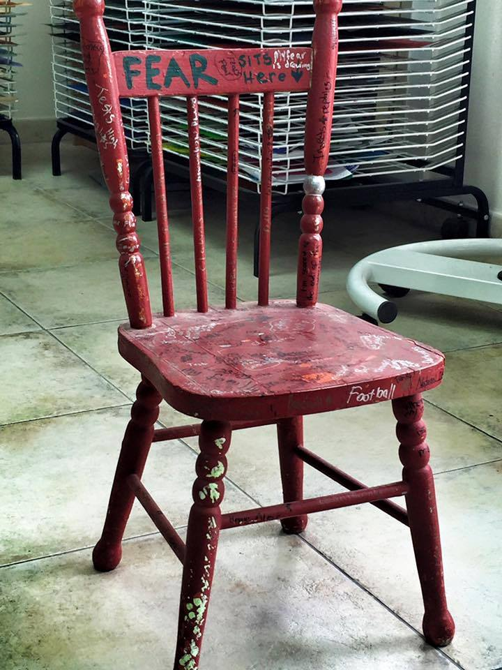 Fear Chair from Charlotte Murphy to Elizabeth Gilbert