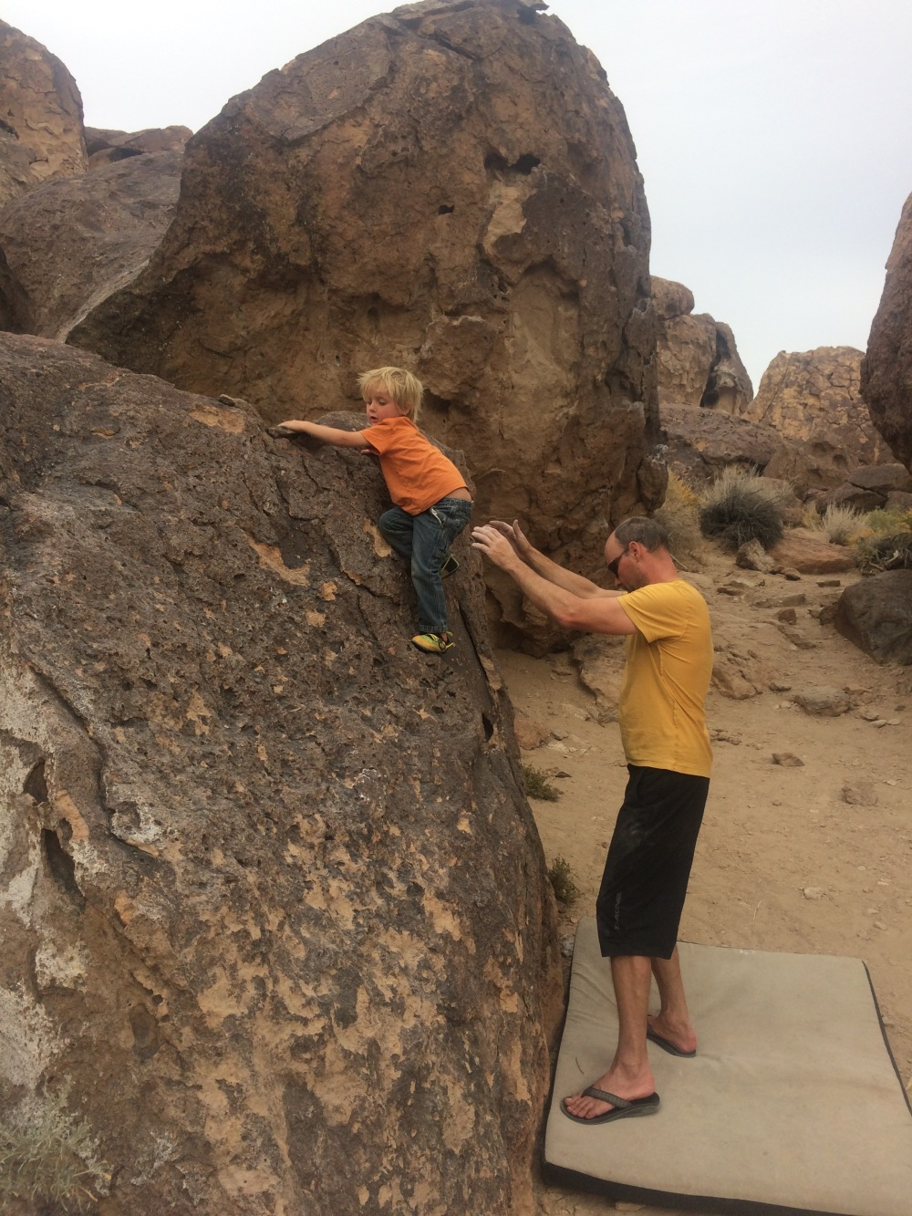 a little bit of bouldering