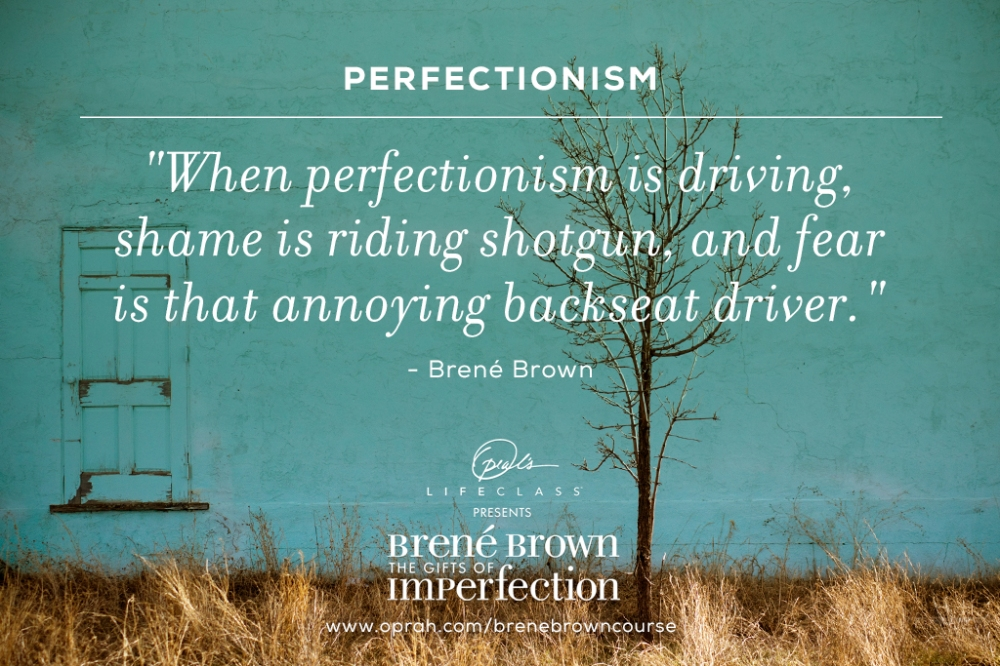 perfectionism by brene brown