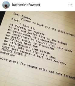 kath Fawcett ransom note