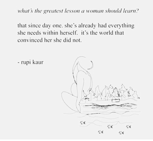 woman's greatest lesson